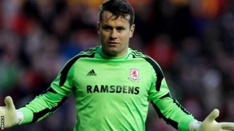Middlesbrough keeper Shay Given