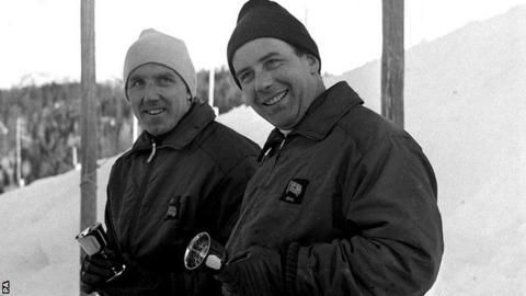 British bobsledders Tony Nash and Robin Dixon