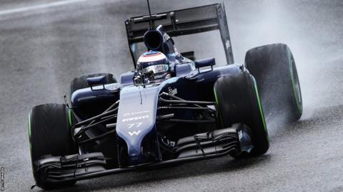 Valtteri Bottas of Finland and Williams drives during day two at Jerez