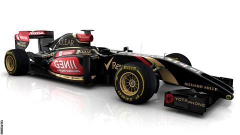 The new car for Lotus's 2014 campaign
