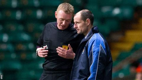 Allan Johnson felt his side could have had two penalties in their defeat to Celtic.