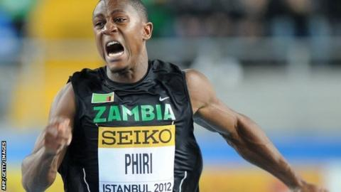 Gerald Phiri competing for Zambia at in Istanbul