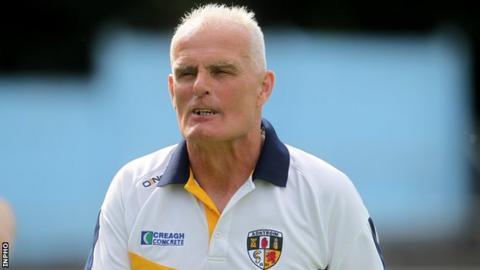 Antrim football manager Liam Bradley