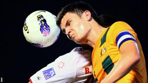 Curtis Good in action for Australia U-19s