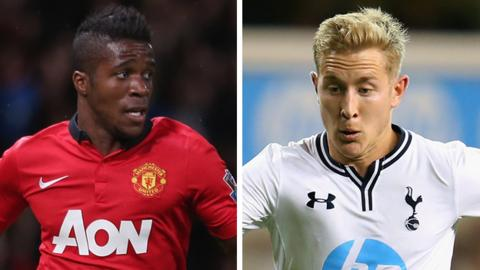 Wilifried Zaha and Lewis Holtby