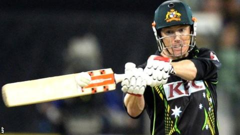 Australia captain George Bailey hits out in his unbeaten 60 at the MCG