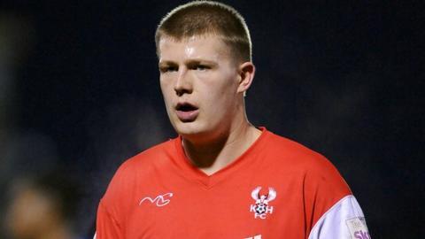 Kidderminster Harriers striker Anthony Malbon