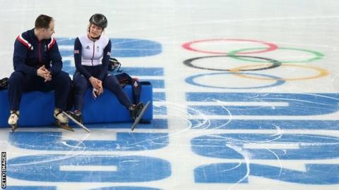 Elise Christie inside Sochi venue