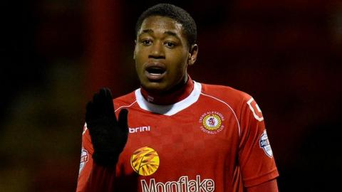 Crewe Alexandra's on-loan Arsenal midfield man Chuks Aneke