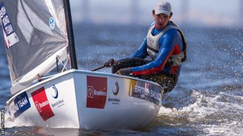87a7f0aa9b1 Finn sailor Giles Scott was one of three gold medallists for Great Britain  on a successful week at the ISAF World Cup event in Miami.
