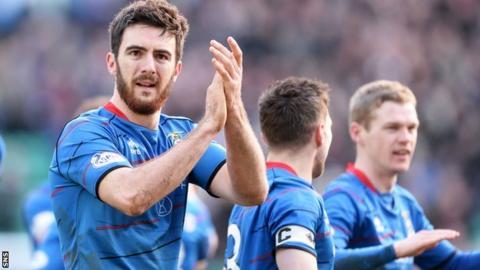 Ross Draper celebrates Inverness's win