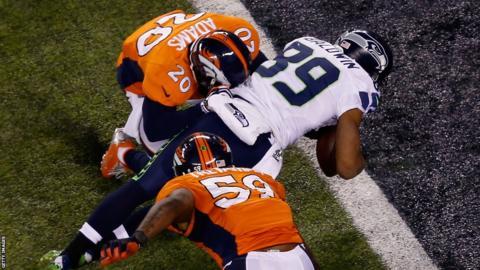 Seattle's Doug Baldwin completes the scoring in Super Bowl XLVIII