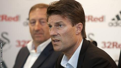 Huw Jenkins and Michael Laudrup