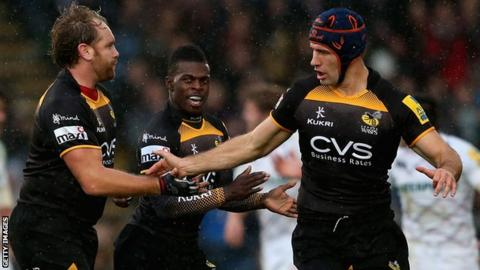 Andy Goode and Chris Bell of Wasps
