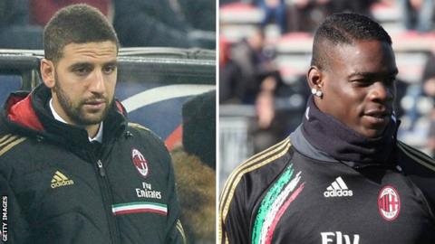 Adel Taarabt and Mario Balotelli
