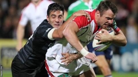 Ulster wing Tommy Bowe suffers a setback to his groin injury