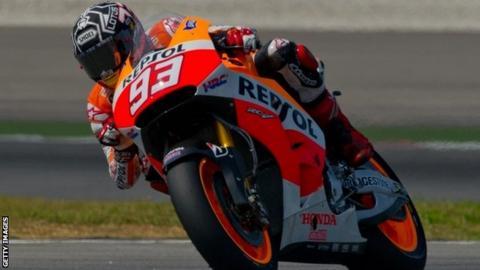 Repsol Honda Team's Spanish rider Marc Marquez
