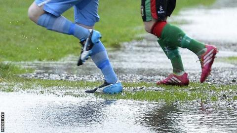 Waterlogged pitch