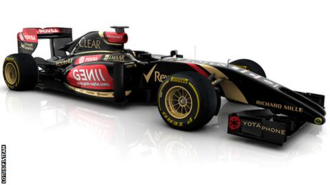 The Lotus 2014 F1 car