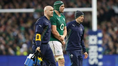 Dan Tuohy comes off injured against Wales