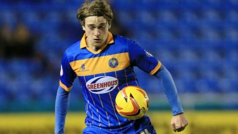 Shrewsbury Town striker Tom Eaves