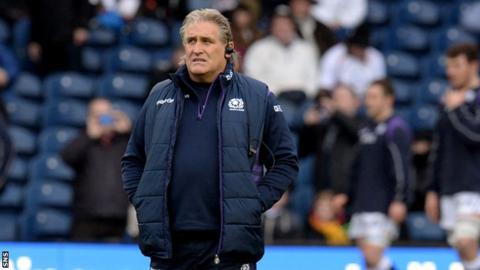 Scotland's interim head coach Scott Johnson