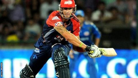 Kevin Pietersen playing for Delhi Daredevils