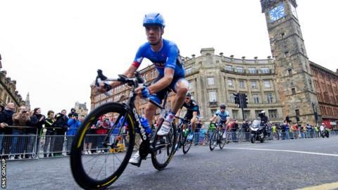 Scotland's David Millar riding in Glasgow last year