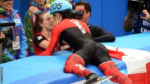 Charles Hamelin and Marianne St-Gelais at Sochi 2014