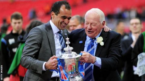 Roberto Martinez with the FA Cup