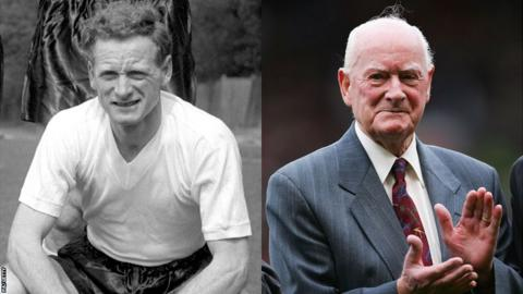 Sir Tom Finney in 1958 and 2006