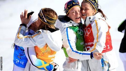 Charlotte Kalla and Sweden team