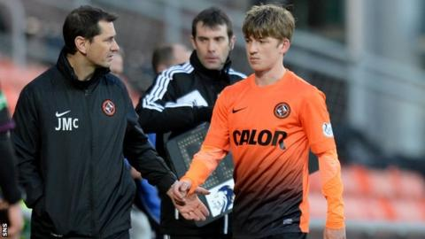 Jackie McNamara lost Ryan Gauld to injury early in the second half
