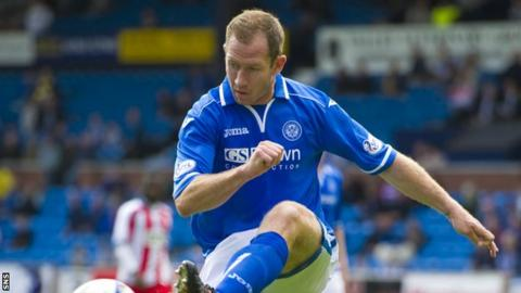 St Johnstone defender Frazer Wright