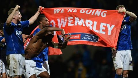 Chesterfield's players celebrate