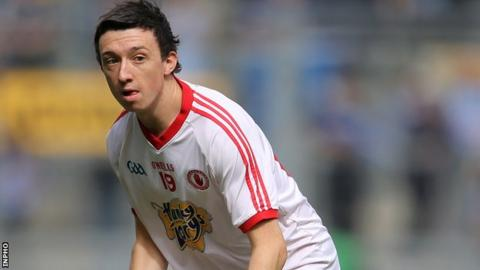 Tiarnan Donnelly scores for St Pat's Dungannon in MacRory Cup replay
