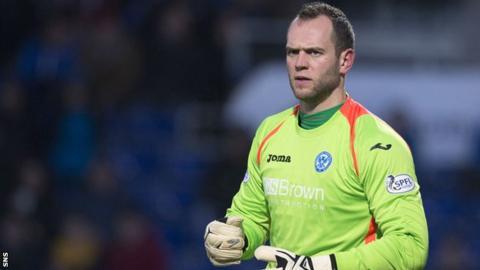 St Johnstone goalkeeper Alan Mannus