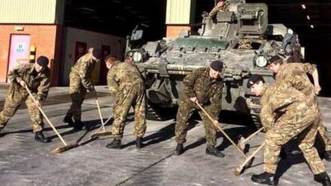 The army have the curling bug