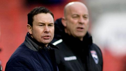Derek Adams was sent to the stand during Ross County's 2-1 win over St Mirren