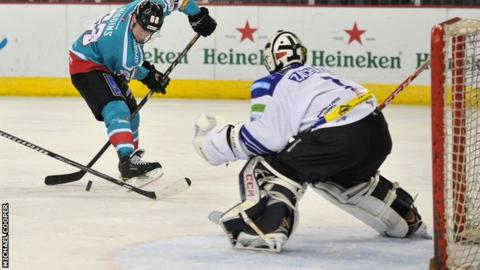 Chris Higgins takes a shot against Coventry on Saturday night