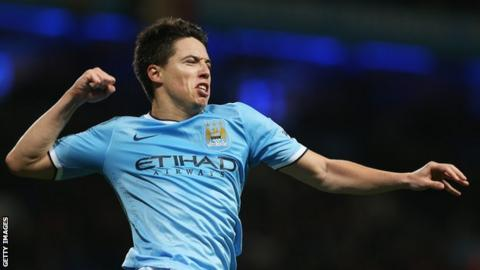 Man City midfielder Samir Nasri