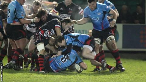 Cornish Pirates v Jersey in the B&I Cup