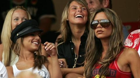 Cheryl Tweedy, Coleen Rooney and Victoria Beckham at World Cup 2006