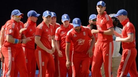 England captain Stuart Broad and his team