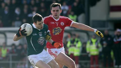 Cathal McNally and Ryan McKenna in action as Tyrone earn a last-gasp win over Kildare