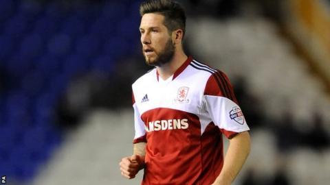 Middlesbrough midfielder Jacob Butterfield