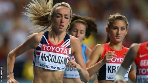 Eilish McColgan in action for GB & NI