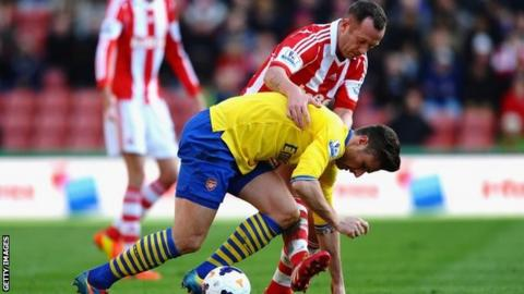 Charlie Adam (top) and Olivier Giroud