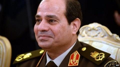 Field Marshal Abdul Fattah al-Sisi in Moscow (13 February 2014)