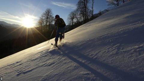 Sochi downhill course